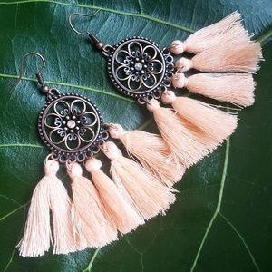 🆕️Festival Tassel Bohemian Sunset Gem Earrings